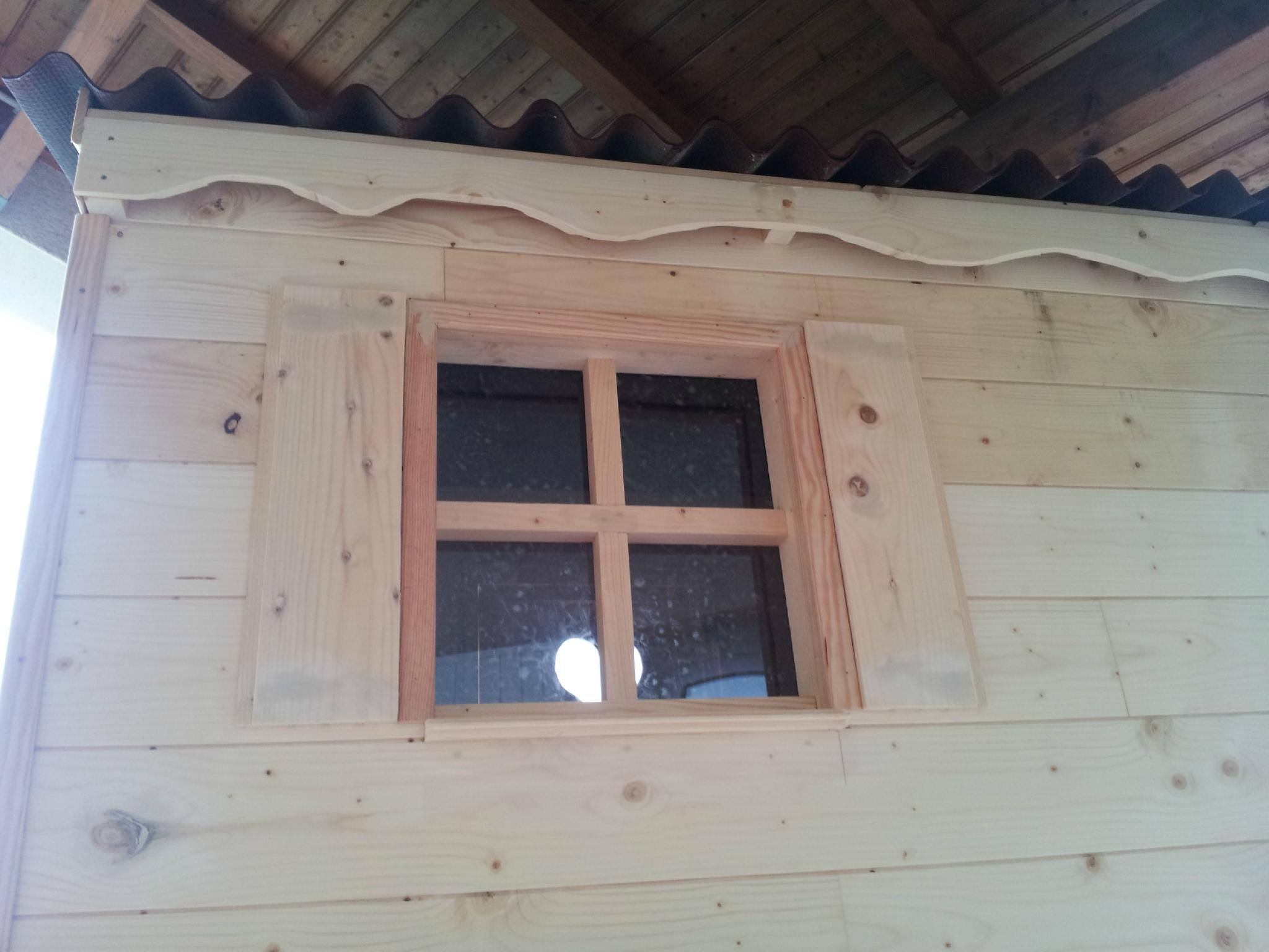 Fenetre bois cabane