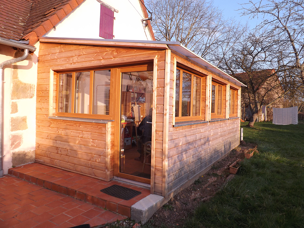 Fenetre bois veranda