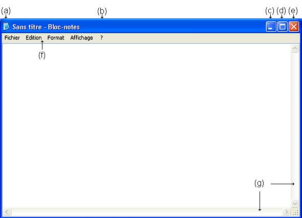 fenetre windows xp