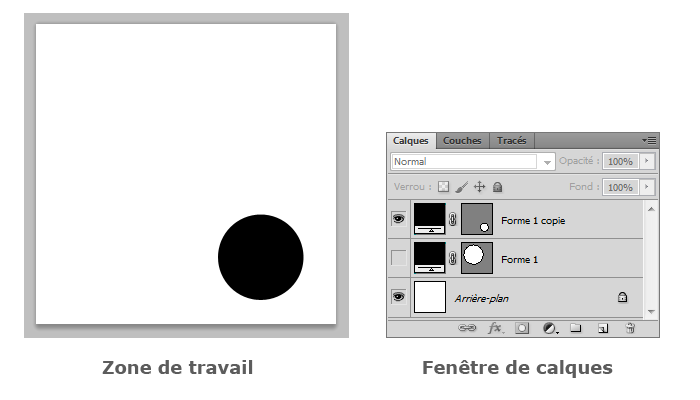 fenetre photoshop invisible