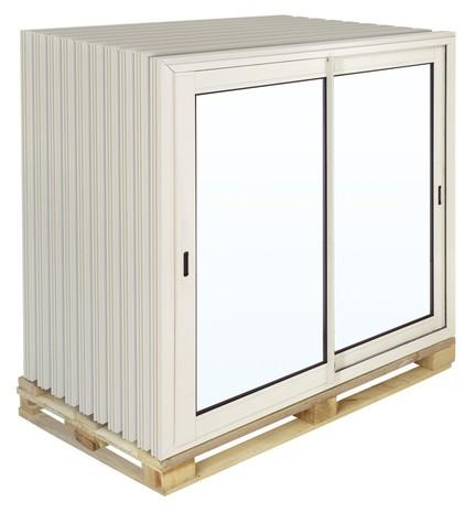 fenêtre coulissante en aluminium haute isolation blanc l. 120 x h. 100 cm