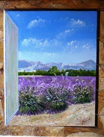 peinture fenetre ouverte