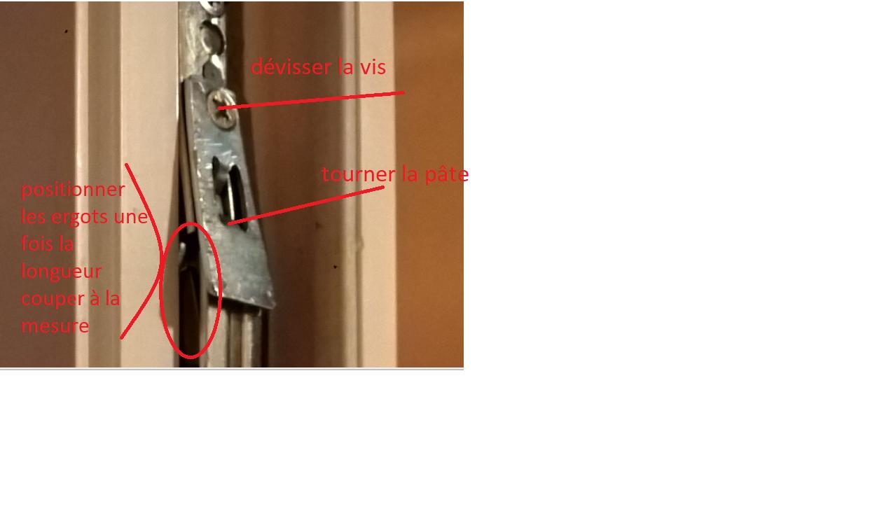porte fenetre bloquée