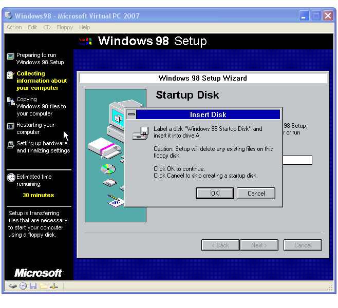 fenetre windows 98