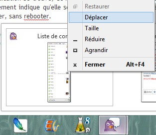 deplacer fenetre windows