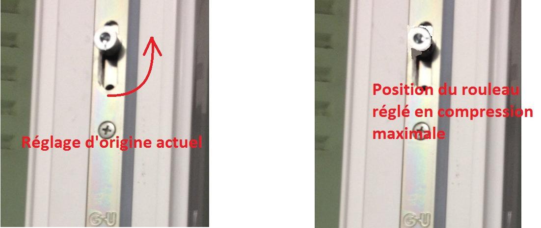 regler une fenetre pvc