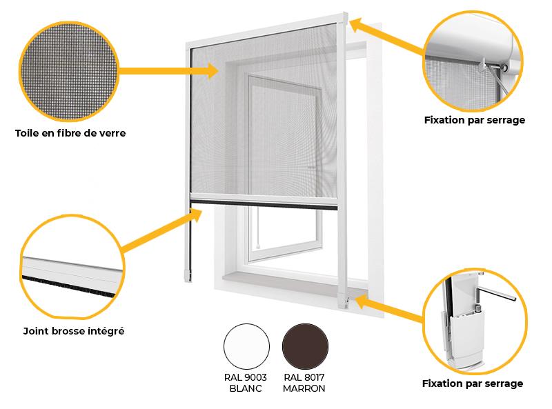moustiquaire de fenetre sans perçage