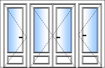 porte fenetre pvc 4 vantaux
