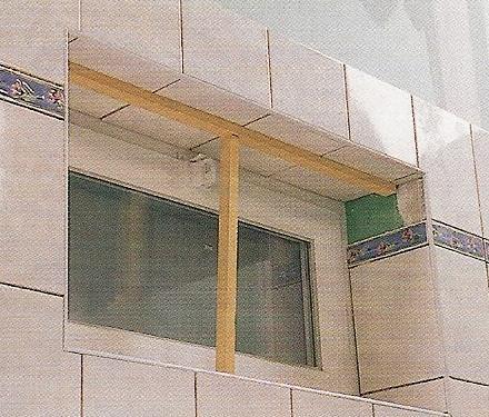 carrelage autour fenêtre